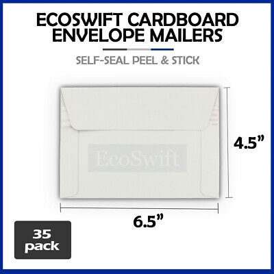35 - 6.5 x 4.5 SELF SEAL RIGID PHOTO SHIPPING FLATS CARDBOARD ENVELOPE MAILERS