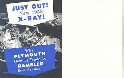 1958 AMC Rambler Vs Plymouth Mailer Brochure 153396-RWNBO1