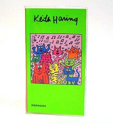 Artist Keith Haring Cats Pocket  Address Book