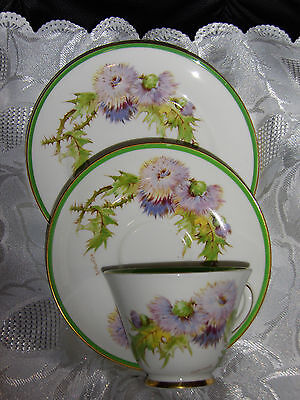 Glamis Thistle ,royal Doulton ,cup & Saucer ,butterplate Set * In Australia*