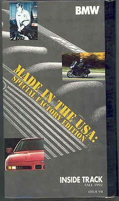 1992 BMW Factory Special Edition VHS Video Tape 121983-W5IF5Y
