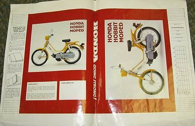1977 Honda Hobbit Moped Motorcycle Book Cover 132180-PVOE42