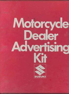 1974 Suzuki Motorcycle Dealer Advertising Kit Brochure 132919-19QSHH