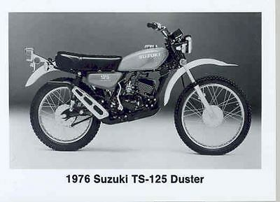 1976 Suzuki TS125 Duster Motorcycle ORIGINAL Factory Photo 132938-UDIL9U