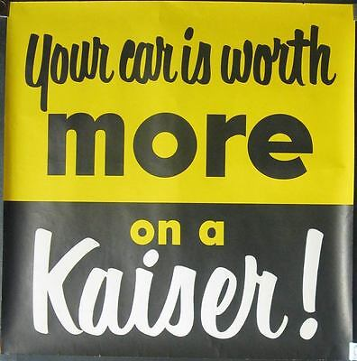 1947 1948 1949 1950 1951 1954 Kaiser Showroom Poster 150967-81KNFW