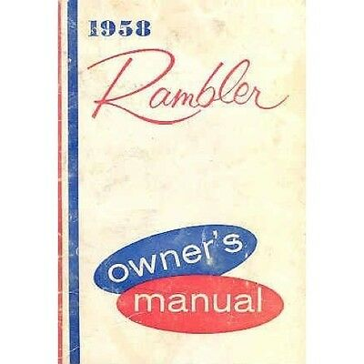 1958 AMC Rambler Owner's Manual OH04-REGDRG