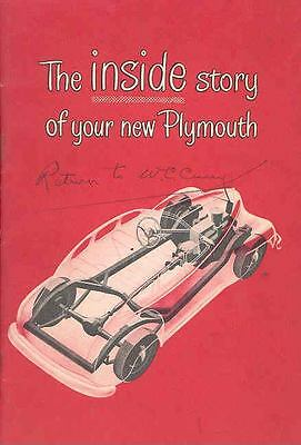 1946 Plymouth Owner's Manual OH412-5YWWO4