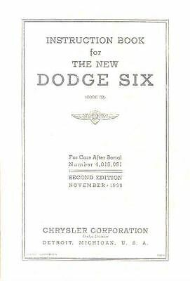 1936 Dodge Six D2 Owners Manual 2nd Edition om1052-OF2P3F