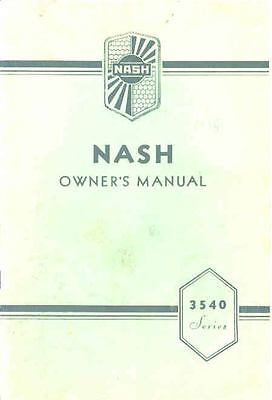 1935 Nash Series 3540 Owners Manual om1223-NFY29I