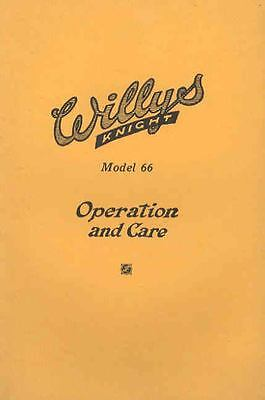 1925 Willys Overland Knight Model 66 Owner's Manual om674-KFSY2Y