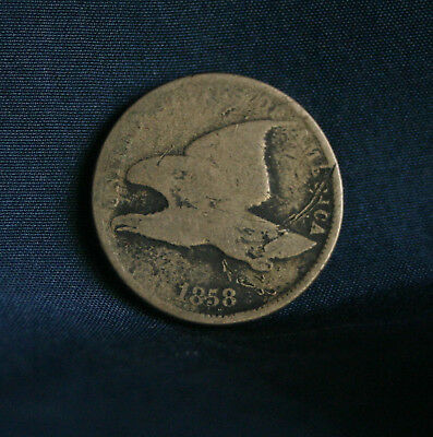 1858 Flying Eagle Cent Rare Early  Coin U.S. penny