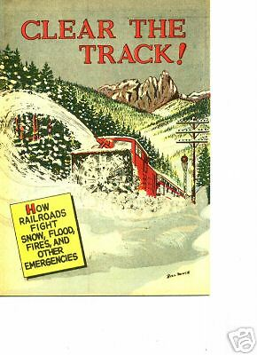 Clear The Track (Railroad) 1956 Give-A-Way Comic book