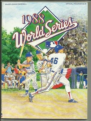 1988 Official World Series Program---Dodgers vs A's   pg