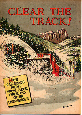 Clear The Track (Railroad) 1956 Give-A-Way Comic book Nice