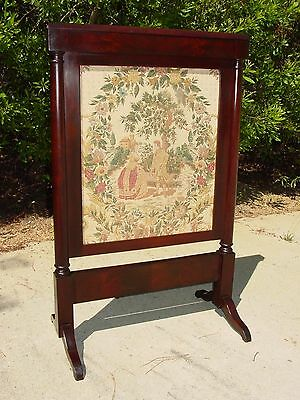 Fine Empire Period Mahogany Fire Screen FireScreen ~Ca.1840