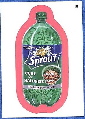 Wacky Packages Series #9 - Sprout Soda Pop Red-Pink Border Parallel Sticker #16
