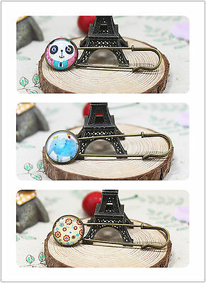 Women Girls ANIMAL Retro Vintage Look Cameo Scarf Collar Hat brooch Brooche Pin