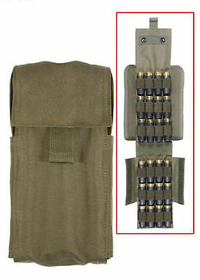 Olive Drab Military Hunting SWAT Molle Shotgun Airsoft Ammo Pouch Case Holder