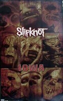 SLIPKNOT 2001 IOWA long promotional poster ~NEW old stock & MINT CONDITION~!!