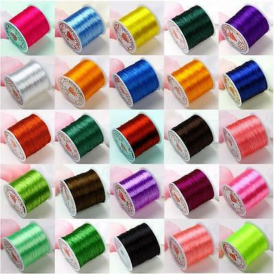 1/10p 0.5mm 80 yard Roll Elastic Stretch Thread Cord For Jewelry Making 25 color