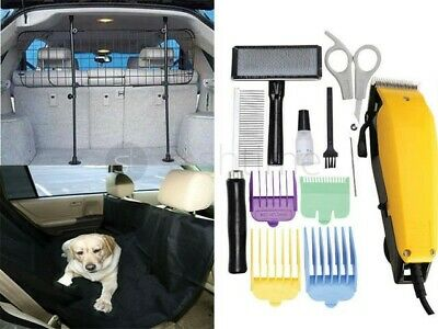 Universal Dog Pet Guard Mesh Grill / Grooming Hair Clipper  Kit/ Back Seat Cover