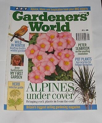Gardeners' World January 1992 - Alpines Under Cover/wild In Winter/pot Plants