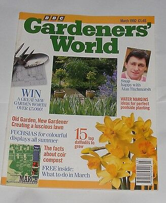 Gardeners' World March 1992 - Fuchsias/water Margins/what To Do In March