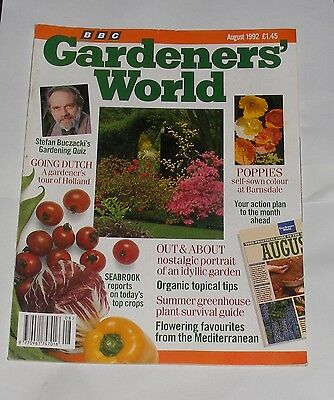 Gardeners' World August 1992 - Going Dutch/poppies/organic Topical Tips