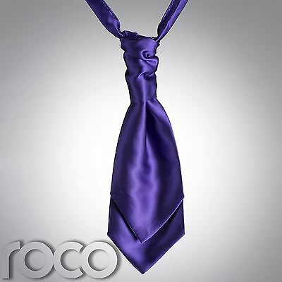 Boys Purple Cravat, Cravats for Boys, Page Boy Cravats, Boys wedding Cravats
