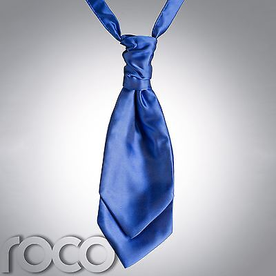 Boys Royal Blue Cravat, Cravats for Boys, Page Boy Cravats, Boys wedding Cravats