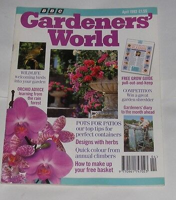 Gardeners' World April 1993 - Wildlife/orchid Avice/pots For Patios
