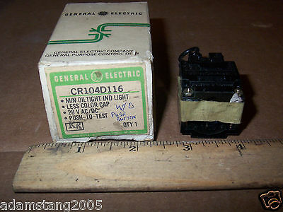 Ge Cr104D116 Push To Test Switch 28V Ac/dc  (No Push Button)