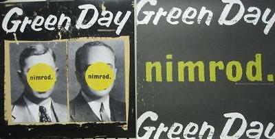GREEN DAY 1997 NIMROD 2 sided promotional poster/flat MINT condNEW old stock!