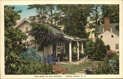 Stone Ridge NY The Shop In The Garden Hand Colored Albertype Postcard