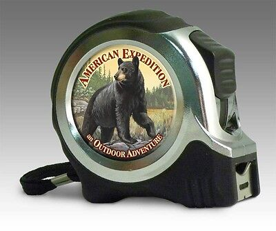 American Expedition Black Bear 25' Tape Measure NIB Men's Gift Father's Day