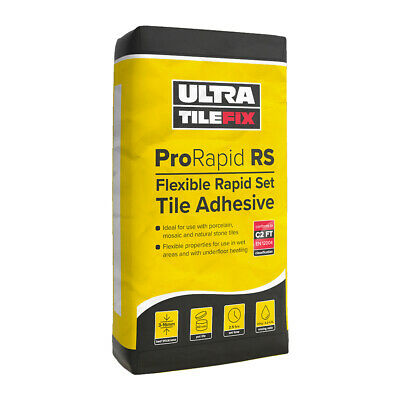 Rapid Setting Flexible Tile Adhesive White or Grey for Floor Wall and Stone 20kg