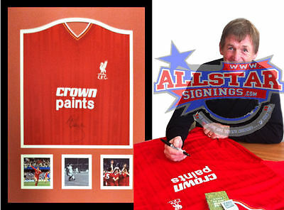 Framed Kenny Dalglish Signed Liverpool 1986 Shirt See Proof Allstars Exclusive