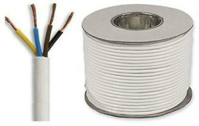 White Round Flexible Cable 3184Y 4 Core 0.75mm 6 Amp 1mm 10A 1.5mm 15A 2.5mm 24A