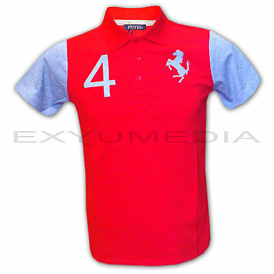 Ferrari original Polo Shirt für Teenager Kinder - Children T-Shirt red/grey