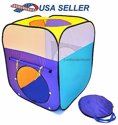 eWW New Children Indoor Portable Rectangle Pop Up Kids Play Tent Playhouse