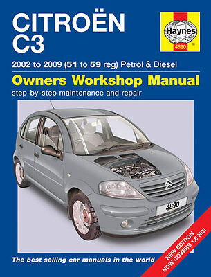 Haynes Workshop Repair Owners Manual Citroen C3 Petrol & Diesel 02 - 09 51 - 59
