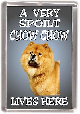 """Chow Chow (Red) No 2 Fridge Magnet """"A VERY SPOILT .... LIVES HERE"""" by Starprint"""