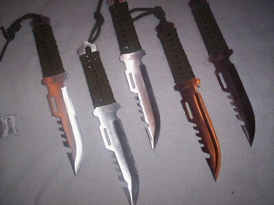 40 Survival Hunting knives Wholesale Lot Hiking Fishing bug out bags Lightweight