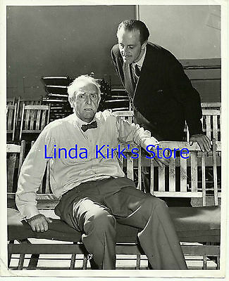"Basil Rathbone & Walter Hampden Promo Photograph ""On Borrowed Time"" CBS-TV"