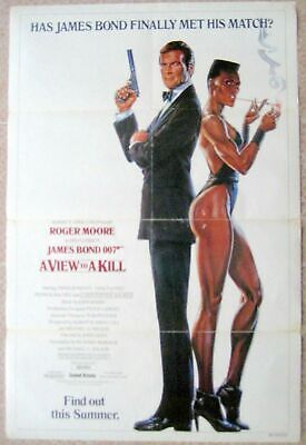 US One sheet Movie Poster Advance 007 VIEW TO A KILL James Bond 27x41 1985 F/VF