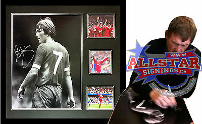 """FRAMED KENNY DALGLISH SIGNED LIVERPOOL 16""""x20"""" PHOTOGRAPH SEE KING KENNY SIGNING"""