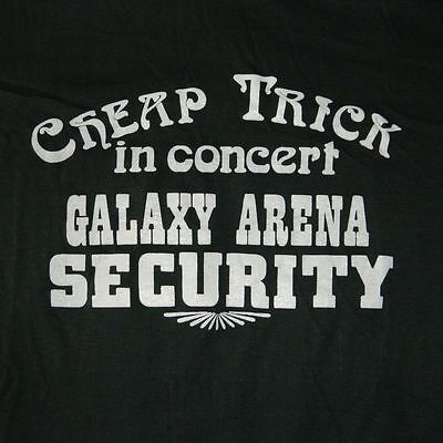 VTG CHEAP TRICK 80S GALAXY ARENA SECURITY T-SHIRT TOUR CONCERT WORKING CREW ORIG