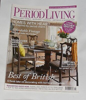 Period Living October 2011 Affordable Vintage/rediscover Carpets/kitchen Special