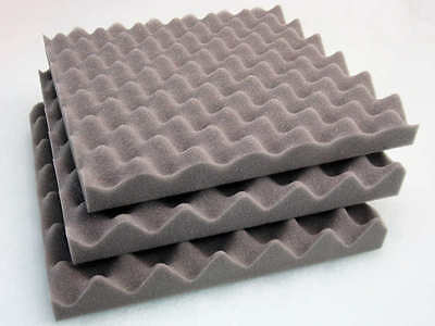 Acoustic Soundproofing Foam Tiles, convoluted egg profile, room/hall/club/studio