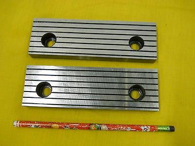"""SET of 2 NEW VISE JAWS mill milling machine work holder tool 5/8"""" x 2"""" x 6 1/4"""""""